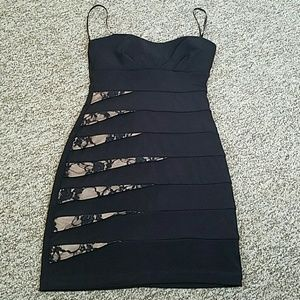 City triangles black dress,